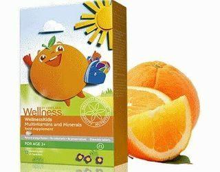 Мултивитамини и минерали за деца WellnessKids- код 28241